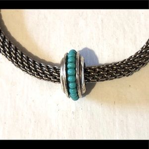 🆕Listing! Brighton bead with tiny turquoise beads